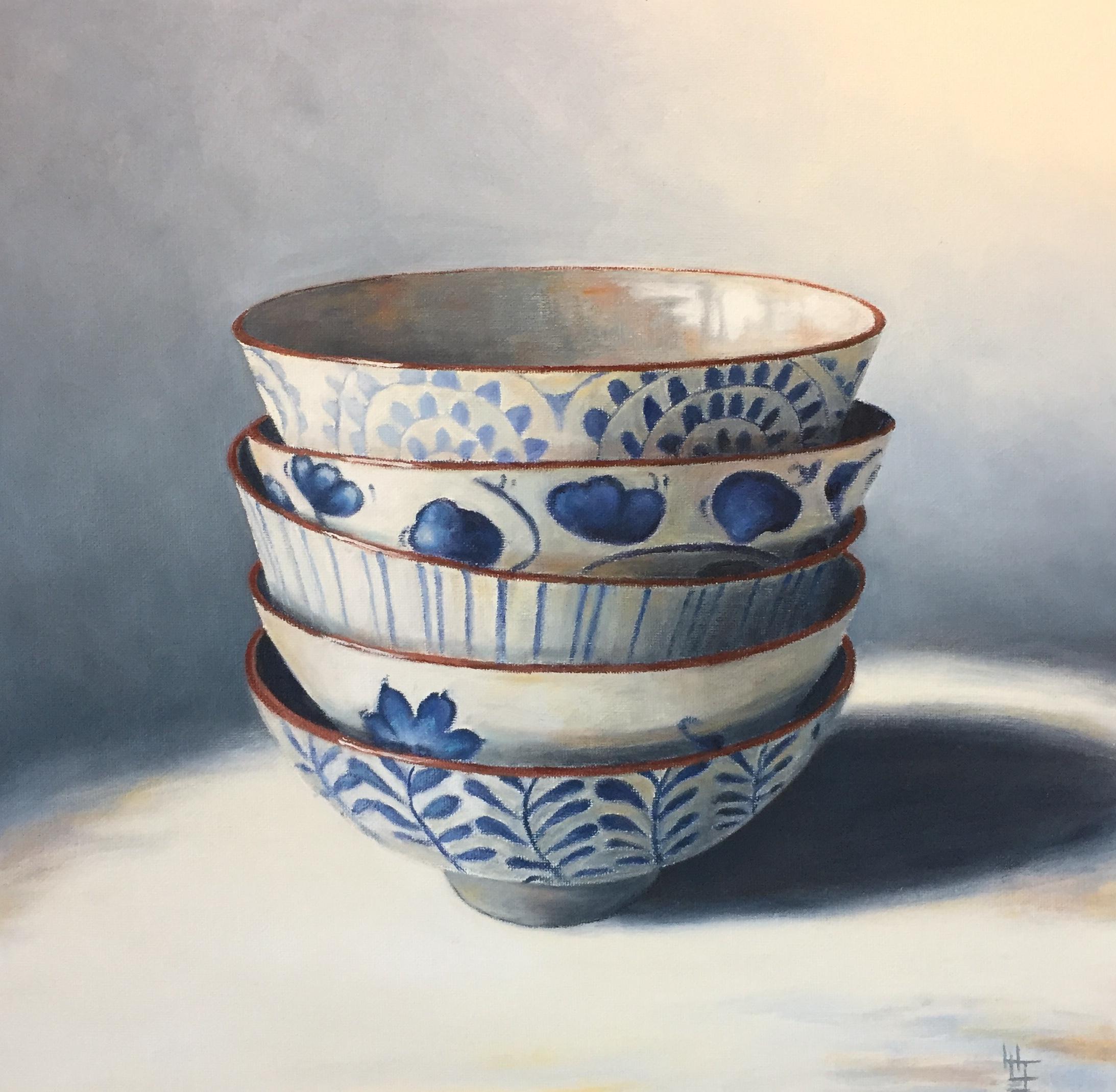 Henrietta Lawson Johnston Blue & White Bowls