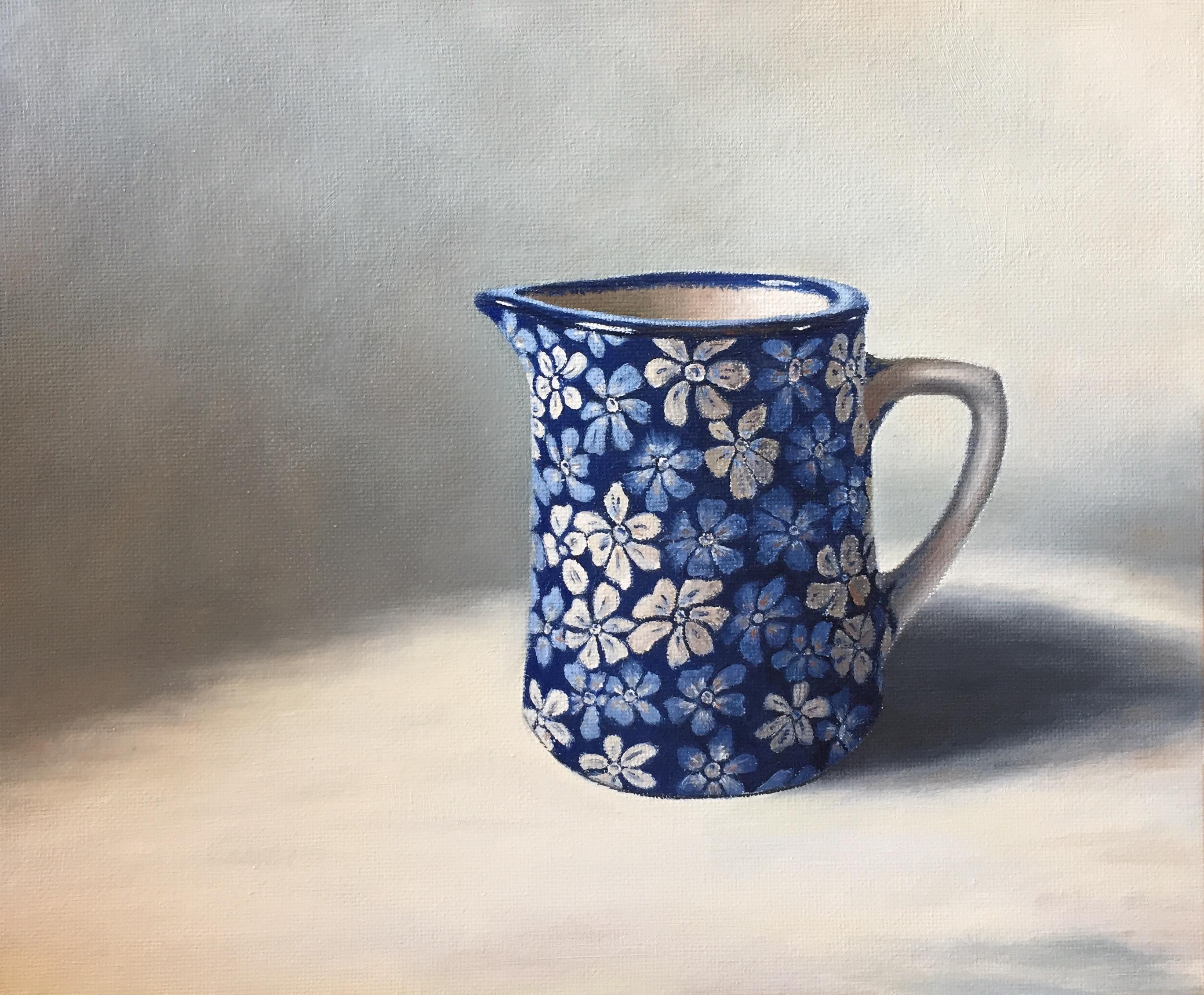 Henrietta Lawson Johnston Blue & White Jug