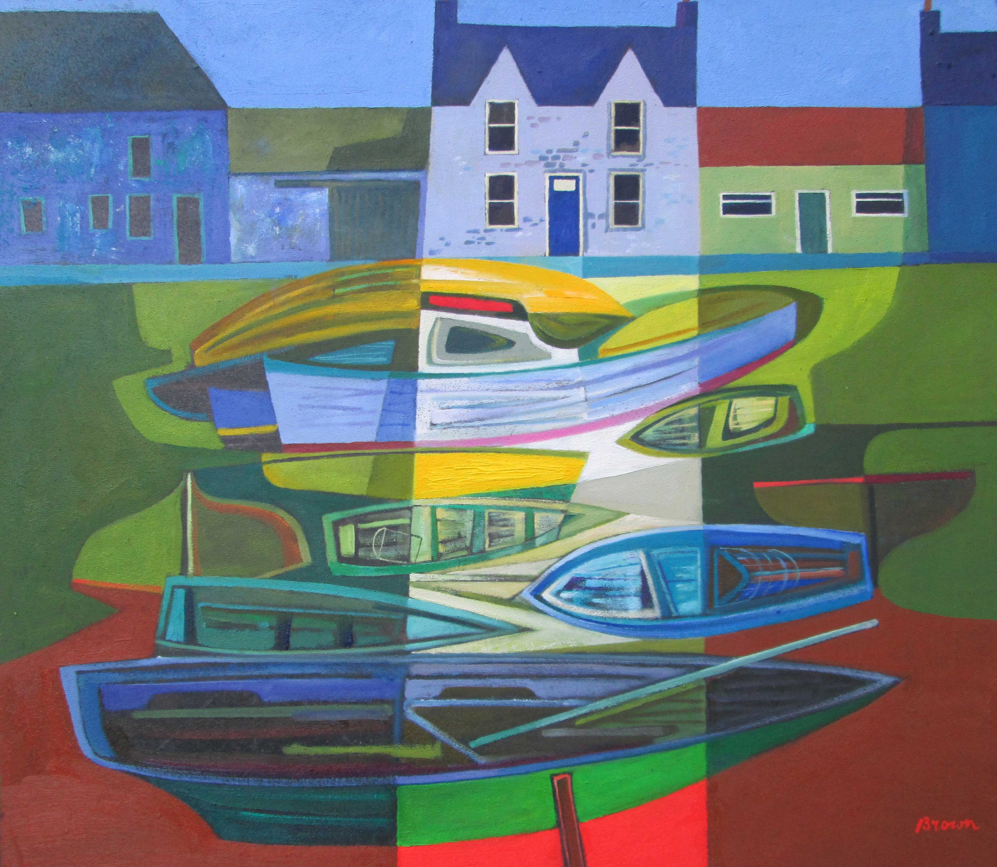 Davy Brown Boats Resting
