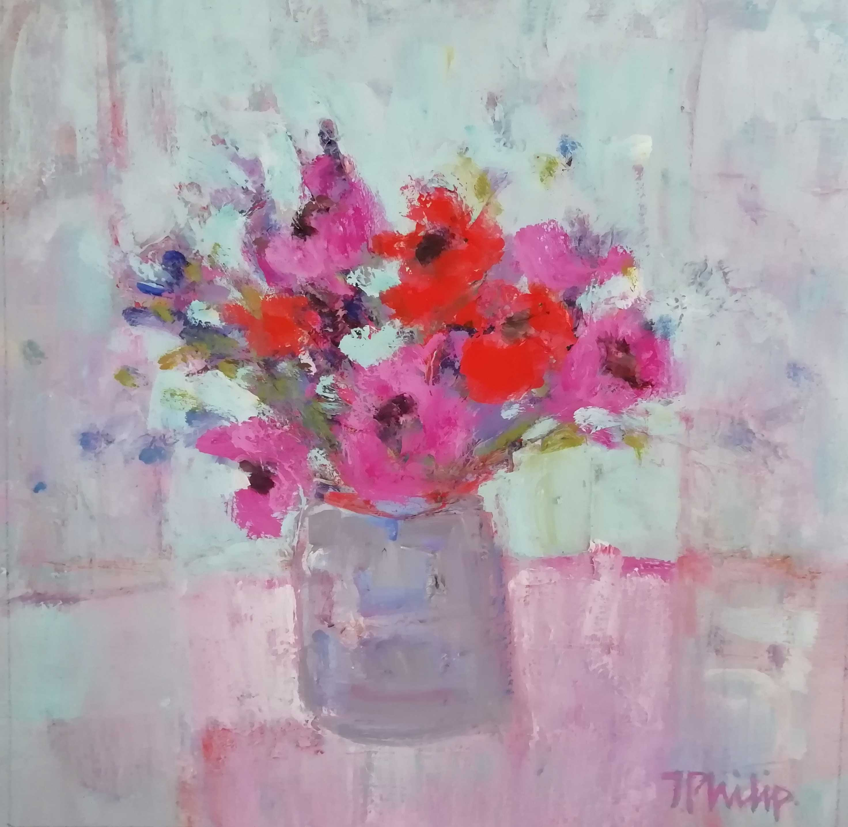 Jackie Philip MA Red & Pink Anemone