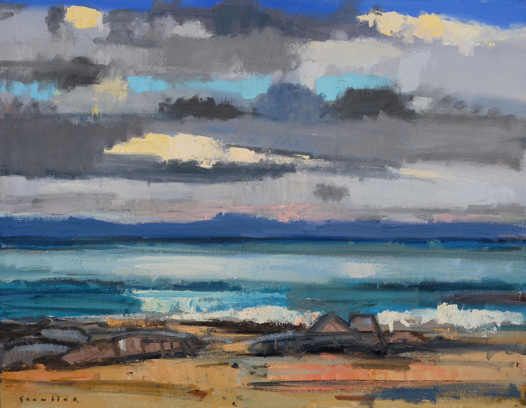 Glen Scoulier Sunlit Clouds over Jura