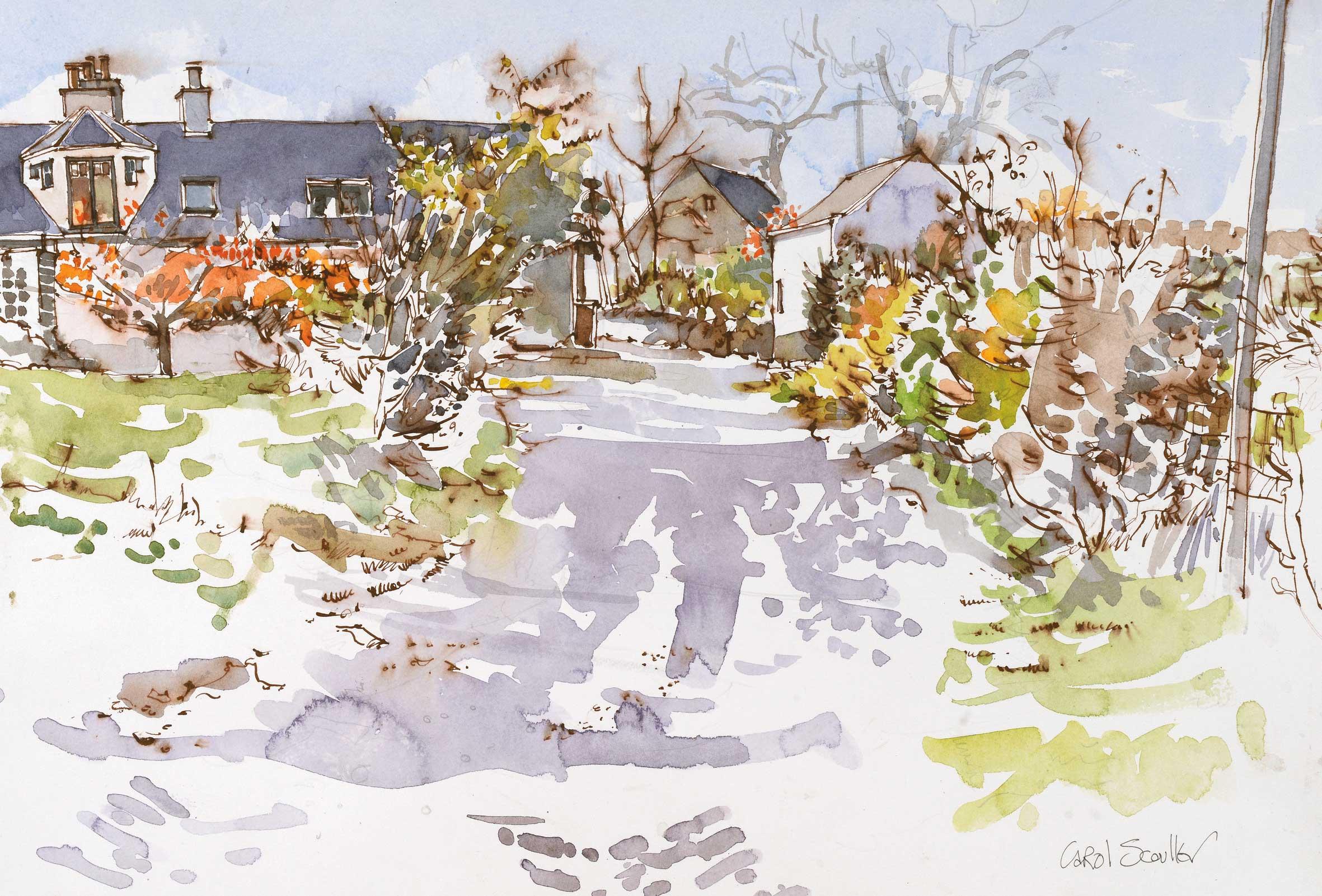 Carol Scouller The Farm in Early Autumn