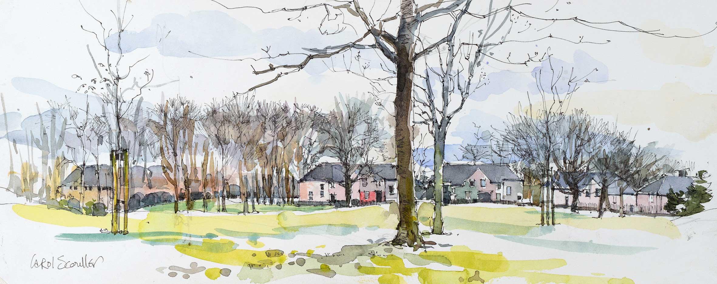 Carol Scouller Winter Trees, Strathaven